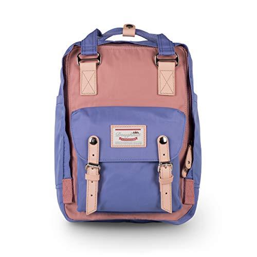 Doughnut Macaroon 16L Travel School Ladies College Girls Lightweight Casual Daypacks Bag Backpack Rose x Taro