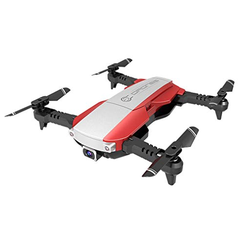 QAIYXM Foldable Drone with 4K FHD Camera for Adults,Hobby RC Quadcopters & Multirotors, Auto Return Home, Headless Mode, Long Control Rang, Best Drone for Beginners with Altitude Hold,Red,4K