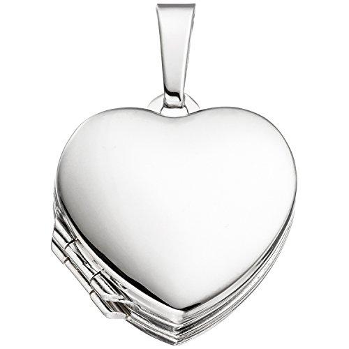 JOBO Damen-Medaillon Herz aus 925 Silber zum Öffnen für 4 Fotos