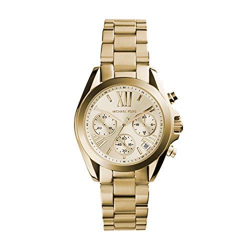 Michael Kors Dames Chronograaf Kwarts Horloge, goud, armband