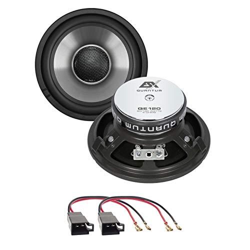Lautsprecher Einbauset kompatibel mit VW T4 ESX Quantum QE120 12 cm 2 Wege Koaxial für die Seitenteile hinten