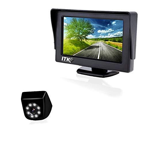 Système de caméra de recul - Caméra étanche - Vision Nocturne 8 LEDs - Ecran 4,3 Pouces - Affichage de Lignes de Guidage - Technologie ITK (ITKC650T4310)
