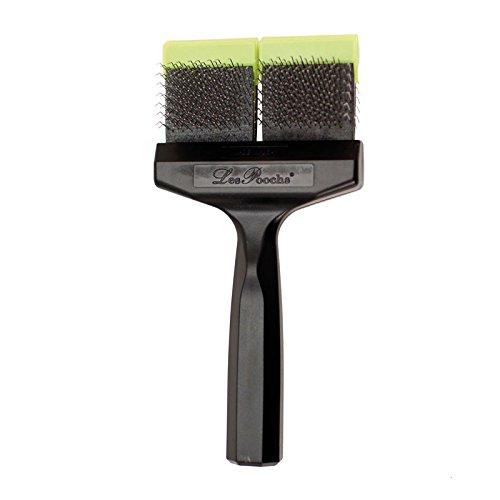 Les Pooch Green Medium Double Brush