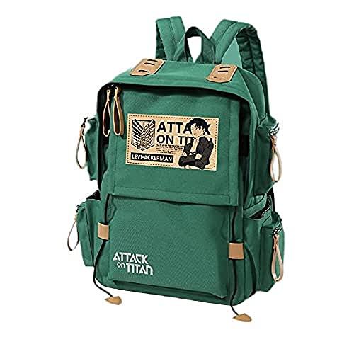 Attack's Schoolbag Capitán Leewell Mochila gigante de anime de gran capacidad para estudiantes