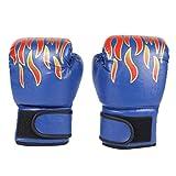 Gants pour Enfants, Gants de Boxe pour Enfants avec Fermeture Velcro Petits Gants de Boxe pour Enfants de 3 à 12 Ans Gants d'entraînement 6 onces pour MMA, Muay Thai et Kickboxing, Rouge (Blue)