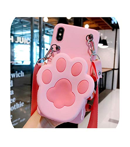 Cat Paw Para Huawei Honor 7A 7C 8A 9A 9S 8x 8c 8s 9x 10 20 30 lite X10 Pro Wallet Strap Rope Phone Case-Case Rope-Honor 8s