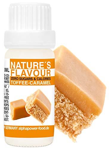 Flavour Drops Toffee - Karamell - Caramel Flavdrops I Natürliches Flave Aroma I Geschmacks Tropfen I Backaroma & Lebensmittelaroma, Zuckerfrei als liquid Konzentrat
