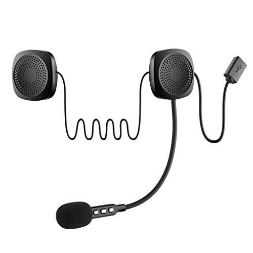 chenpaif Cuffie Bluetooth, 1 Set Cuffie Bluetooth per Moto Senza Fili Interfono Auricolare per Casco a Mani libere