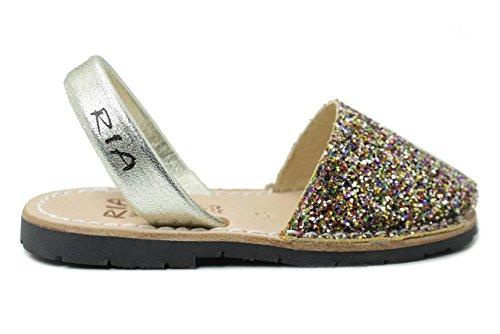 Ria Zapatos Niña Menorquinas Avarcas 21224 Oro 27