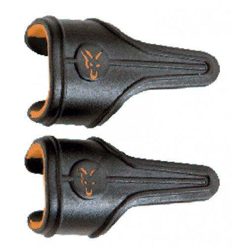 Fox Black Label Power Grip Line Clips, Größe:S, Farbe:Schwarz/Orange