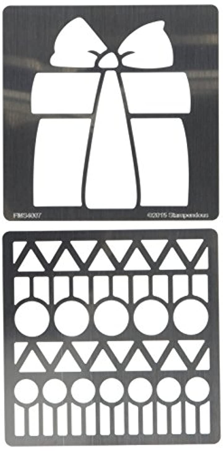 STAMPENDOUS FMSD104 Gift Fran's Stencil Duo with Pen & Cards, Clear