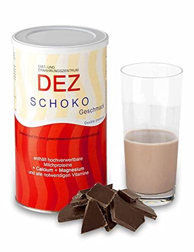 DEZ Abnehm Shake Schoko 480 g (28 Portionen á 1,75 Euro)   Nachweislich 5 kg in 14 Tagen abnehmen   Diät Shake mit Milchshakegeschmack   Mahlzeitersatz mit hochwertigem Protein   Eiweiß Pulver