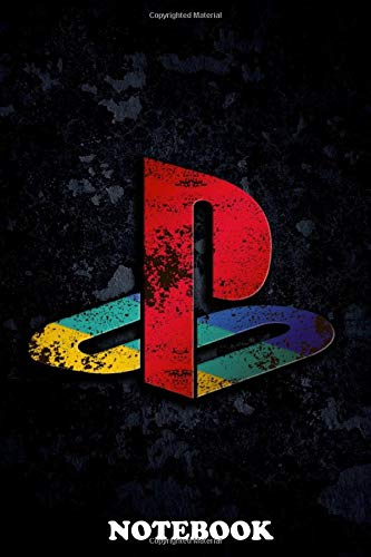 """Notebook: Playstation 1 Logo Ps1 , Journal for Writing, College Ruled Size 6"""" x 9"""", 110 Pages"""