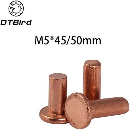 Ochoos 30pcs M5x45mm At Award-winning store the price M5x50mm Length copper hori rivets flat head