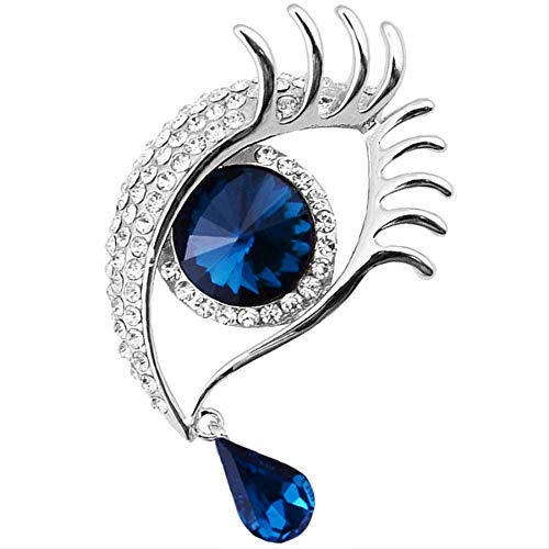 Charming Crystal Scarf Collar Pins Brooch Rhinestone Evil Eye Brooches Pin Jewelry For Women Accessories
