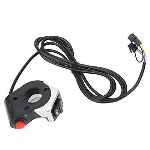 AMONIDA Botón de Bicicleta eléctrica de Alta confiabilidad fácil de Usar, Interruptor de bocina de Bicicleta eléctrica, Accesorio de Bicicleta eléctrica para Montar en Bicicleta de montaña
