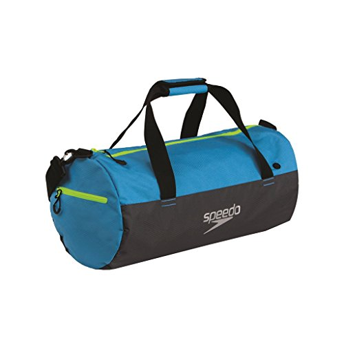 Speedo Erwachsene Tasche Duffel Bag, Blau (Japan Blue/Oxid Grey/Fluo Yellow), 27 x 15 x 3 cm, 1 Liter