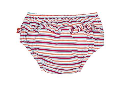 LÄSSIG Baby Schwimmwindel Badewindel wiederverwendbar waschbar Auslaufschutz UV-Schutz/Splash & Fun Baby Swim Diaper  girls-small stripes, 12 Monate, Größe M