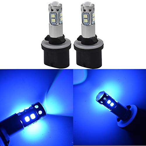 labwork 2X 880 884 885 890 892 893 899 8000K Ice Blue 50W LED Fog Light Daytime Running Light