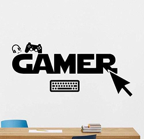 Wandtattoo Gamer Gamepads Wandtattoo Gaming Joystick Gamepad Home Decor Videospiel Wandaufkleber Videospiel Wandkunst Teen Boy Zimmer 40 x 90 cm