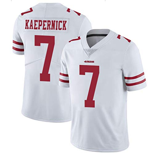 FADA American Football Trikot 49ers, Colin Kaepernick Jersey, Herren Relaxed T-Shirts, 100% Polyester, Material, farbe, Größe S