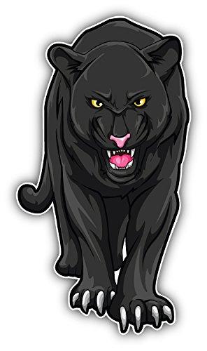 Angry Black Panther Auto-Dekor-Vinylaufkleber 8 X 15 cm