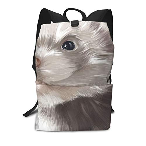 Cute Ferret Personalized School Backpack for Girls Teens Cute Print Bookbag Laptop Backpack Men Travel Casual Daypack