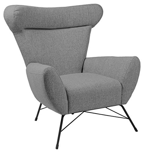 Amazon Brand - Movian Galga - Silla relax, 90 x 105 x 98 cm (largo x ancho x alto), gris (tapizado Kuba)