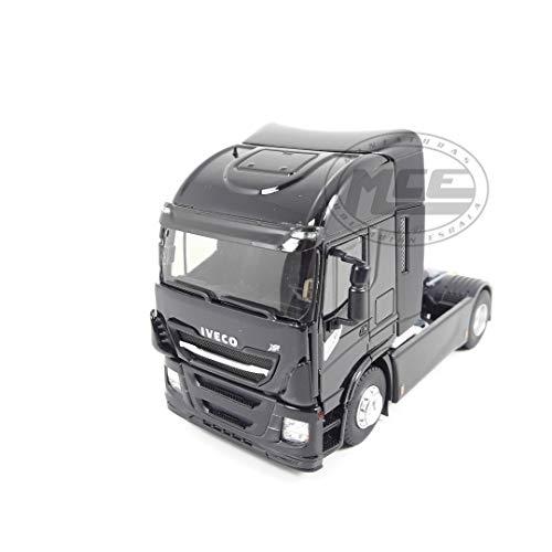 Desconocido 1/43 Truck CAMION IVECO STRALIS 570XP Tractor Negro Brilla