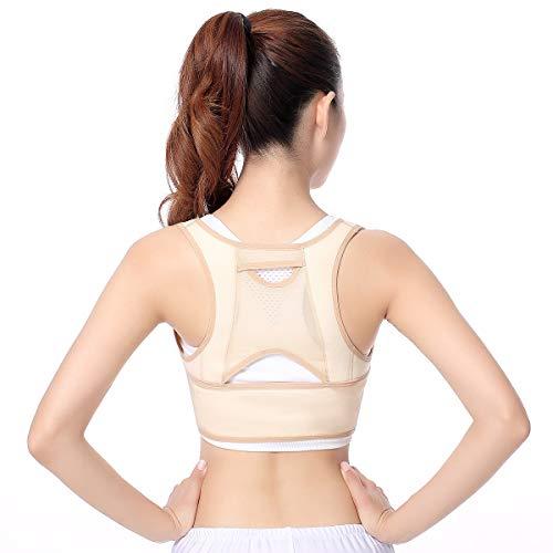 KUWZ Geradehalter zur Haltungskorrektur Rückenstütze Gürtel unsichtbare Wirbelsäule Unterstützung Gürtel Orthese Korsett Orthopädische Taille Schulterstütze (Color : Flesh, Size : XXL)