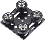 YYWEi Accesorio para impresora 3D V Placa de Pórtico con Rodamientos para impresora CNC y Impresora 3D