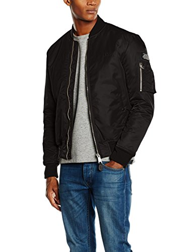 Schott Nyc Herren Airforce 1 Jacke, Schwarz (Black 90), X-Large