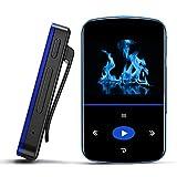 Mibao 32GB Lettore MP3 Bluetooth con Clip,MP3 Bluetooth con Touch Screen con Contapassi/Radio...