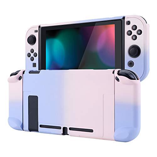 eXtremeRate PlayVital Cover Custodia Protettiva per Nintendo Switch Joycon Console Copertura Rigida Case Separabile per Nintendo Switch(Sfumato Lilla Rosa)