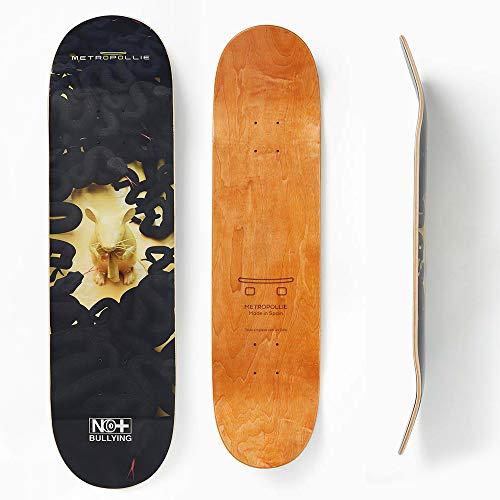 Metropollie Skateboard, Maus und Schlangen, Skateboard für Kinder, Mädchen, Jugendliche, Erwachsene, Anfängerbrett, 7-lagig, 100 % kanadisches Ahornholz