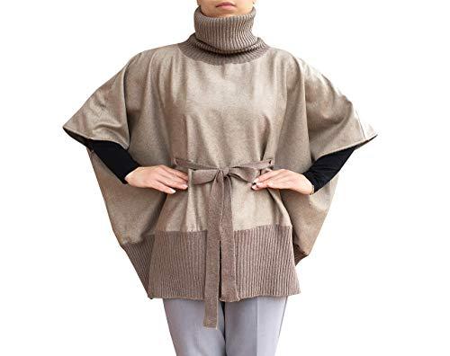 Pullover Poncho 100% Reinem Kaschmir Strickjacke Pullover Cardigan V-Ausschnitt für Damen