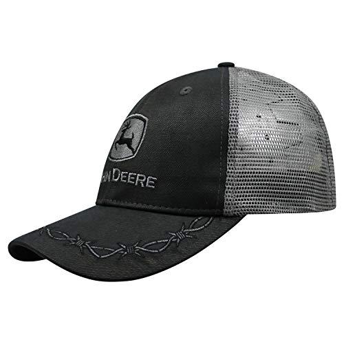 John Deere Oilskin Mesh Back Embroidered Hat Black