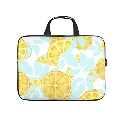 Lemon Fruit piece Ice - Funda para ordenador portátil, diseño de frutas y limón, suave, antiarañazos, maletín con asa portátil, para mujeres y hombres, color blanco 10 pulgadas