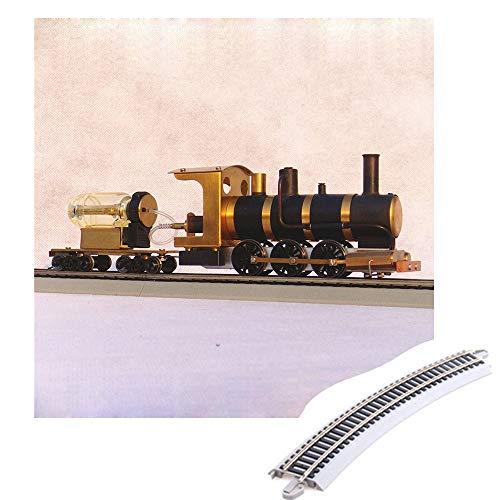 Dampf-Zug-Modell, Mit Dampfantrieb HO Anteil Live-Dampf-Motors, Die Dampf-Lokomotive Model, Mit Rauch, Ton, Super Realistisch,Trainmodeland12pcstrack