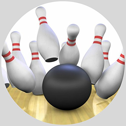 Tortenaufleger Tortenfoto Aufleger Foto Bild Bowling rund ca. 20 cm (2) *NEU*OVP*