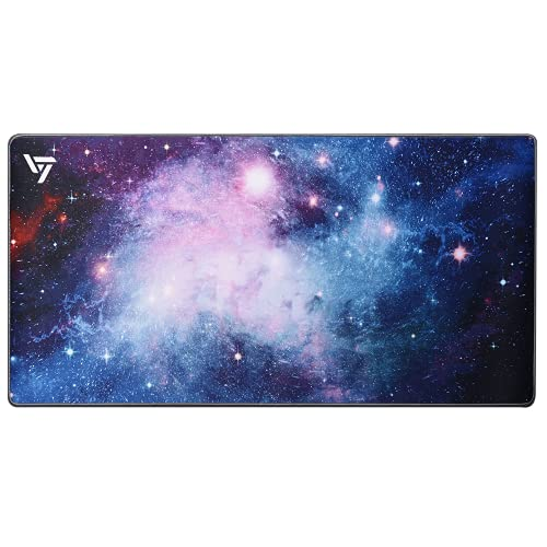 Ergonomic Mouse Pad Extended Gaming Mouse Pad with Stitched Edges, [30% Larger] Long XXL Mousepad (31.5x15.7In), Non-Slip Base Desk Pad Keyboard Mat,Water-Resistant, for Gamer, Office Home,Galaxy