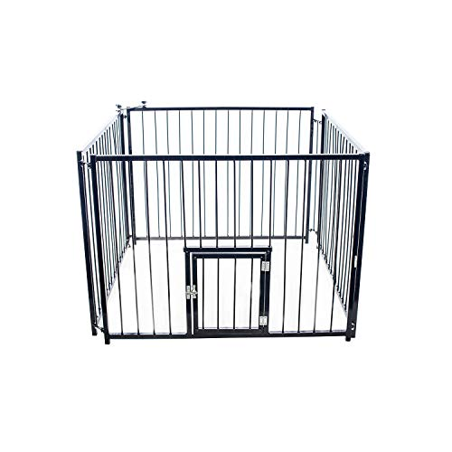 Kennel with Black Door Nf Pet for Dogs, Black