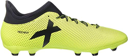 adidas X 17.3 Fg, Chaussures de Football Homme, Blanc, Multicolore (Solar Yellow/legend Ink /legend Ink ), 43 1/3 EU