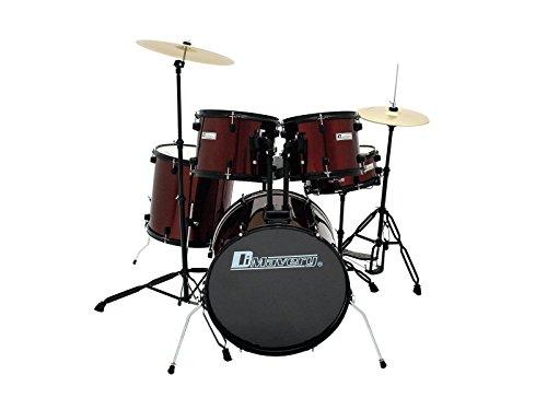 Set de batería VINAUT, rojo - Drum set completo / Batería acústica - klangbeisser