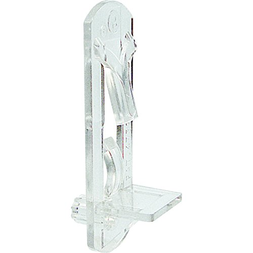 Slide-Co 243422 Shelf Support Peg, Self-Locking, 5mm, 3/4-Inch Shelf, Clear,(Pack of 6)