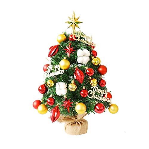 TJLSS Mini Potted Artificial Plants Fake Ball Tree Small Bonsai Christmas Home Decoration Desk Small Xmas Trees