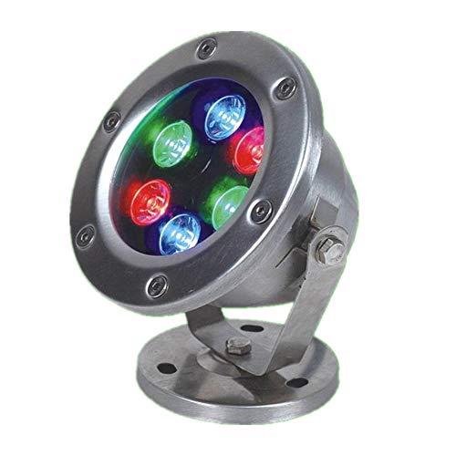 MSQL LED-Unterwasserscheinwerfer, RGB-Gartenteichlicht, drehbarer Leuchtenkopf, Unterwasser-Landschaftsleuchte, für die Dekoration des Pools im Freien,3W