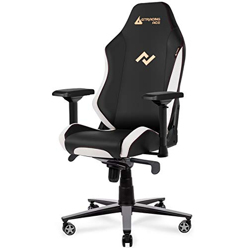 GTRACING Premium Gaming Chair Big and Tall 350lb,Ergonomic Computer Chair with Recliner, Swivel, Tilt, 4D Armrests, High Backrest, Rocker and Seat Height Adjustment Mechanisms (White)