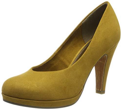 MARCO TOZZI Damen 2-2-22441-33 Plateaupumps, Gelb (Mustard 606), 39 EU