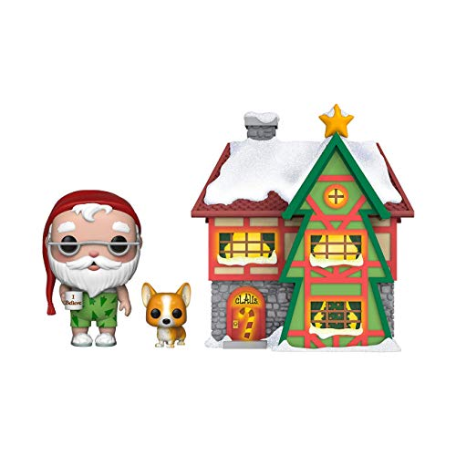 Funko 44423 Pop! Town: Holiday - Santa's House with Santa & Nutmeg Collectible Vinyl Figure